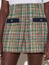 Multicoloured Tweed Shorts : Skirts & Shorts color Multi-Color