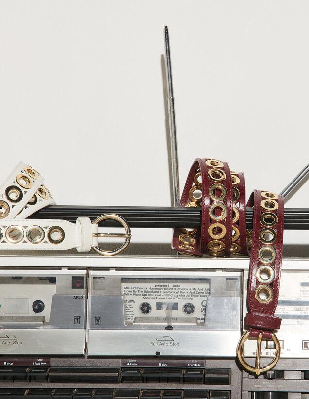 Belt With Eyelets : Belts color Bordeaux