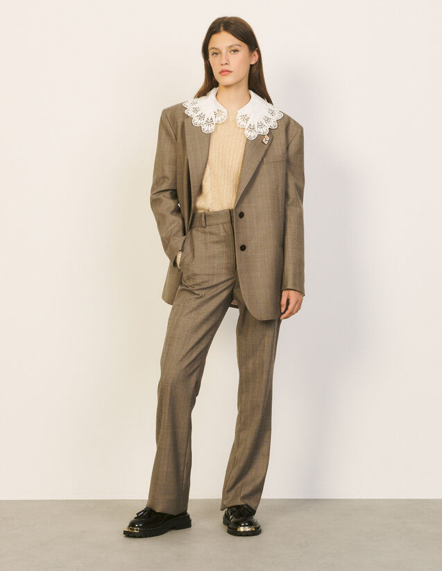 Tailored Trousers : Pants color Taupe