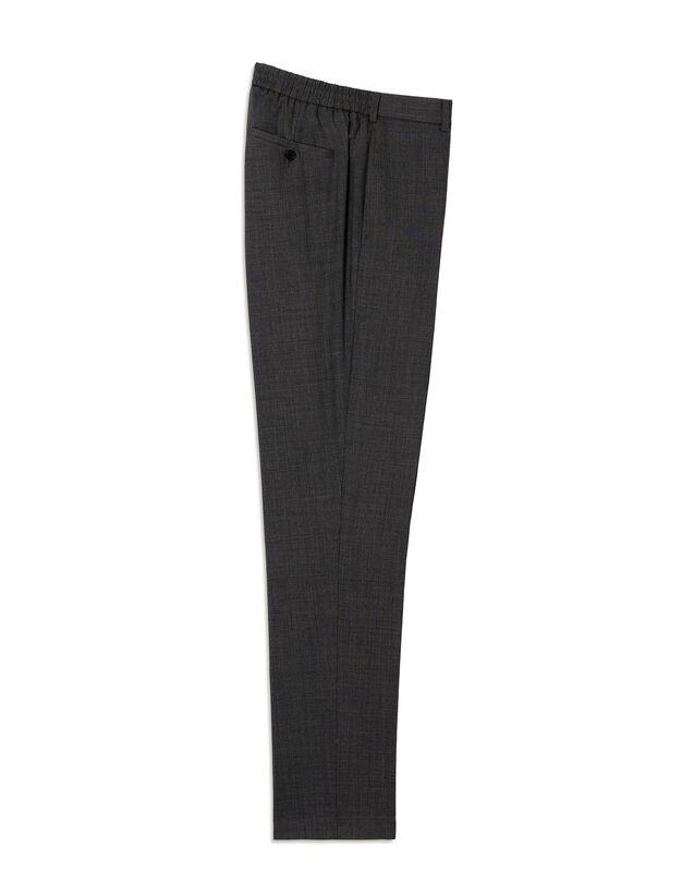 Virgin Wool Suit Trousers : Pants & Shorts color Grey