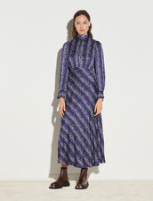 Long Printed Dress : Dresses color Royal Blue