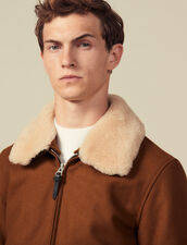 Aviator Jacket With Sheepskin Collar : Jackets & Coats color Beige