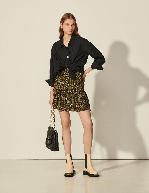 Short Printed Skirt : Spring Summer Collection color Black