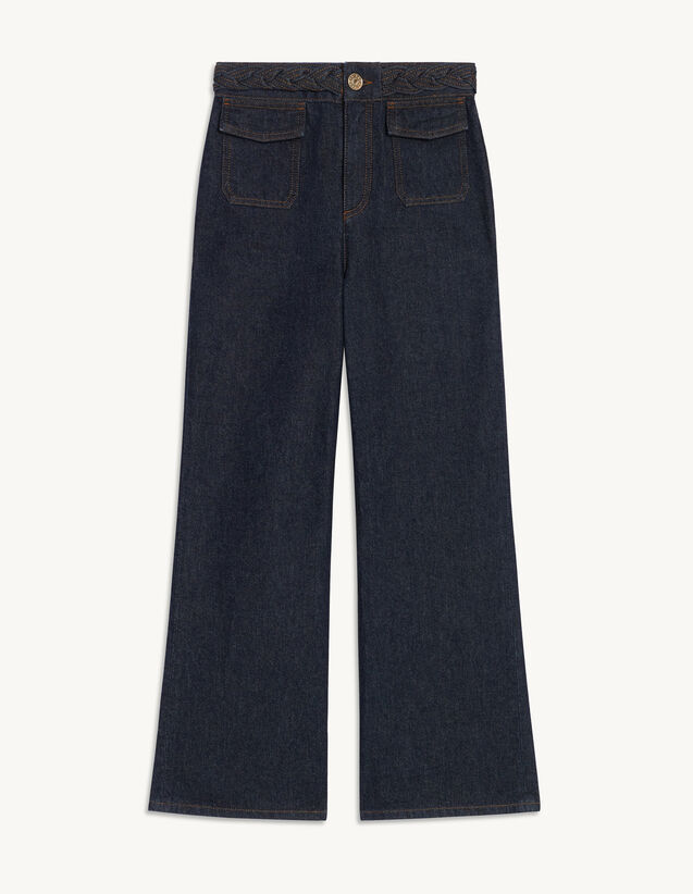 Wide-Leg Jeans : Jeans color Bleu Denim
