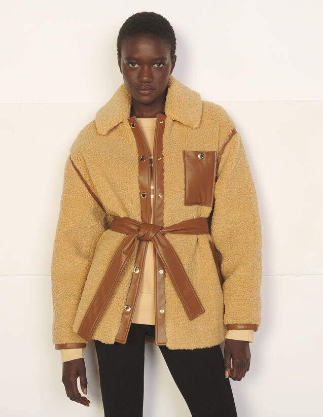 Overshirt-Style Coat : Coats color Camel