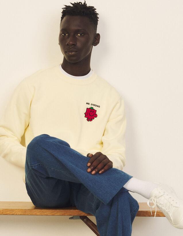 Cotton Sweatshirt With Patch : Sweatshirts color Beige