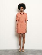 Shirt Dress With Decorative Buttons : Dresses color Navy Blue
