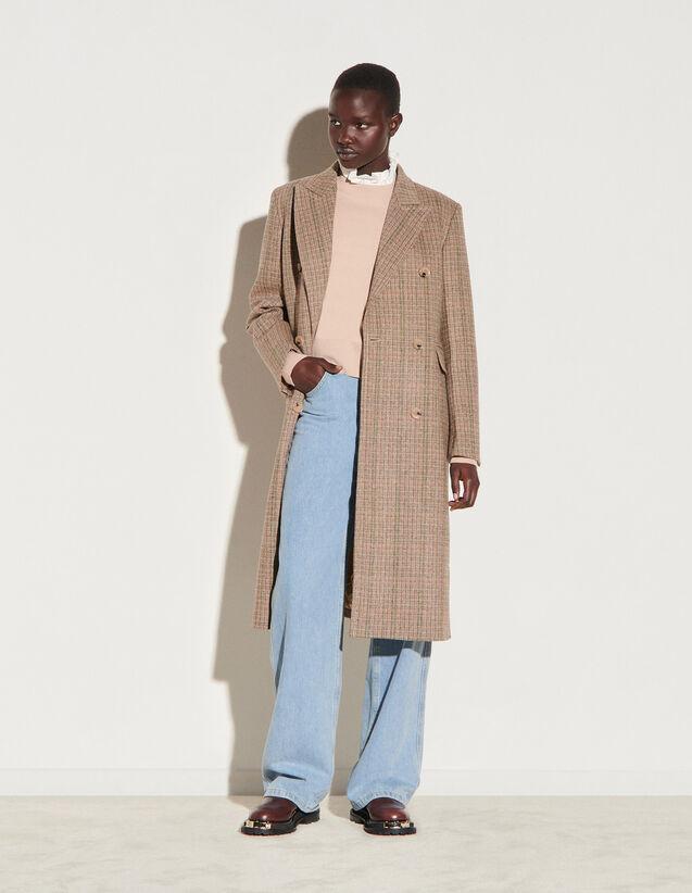 Long Wool Coat : Coats color Brown