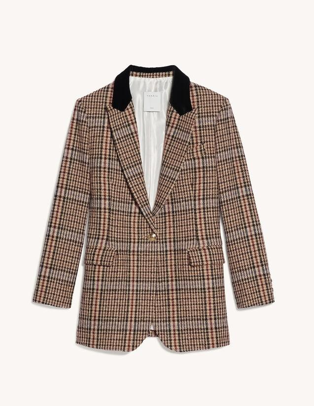 Checked Tweed Tailored Jacket : Blazer & Jacket color Multi-Color
