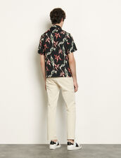 Short-Sleeved Printed Shirt : Shirts color Ecru
