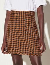 Short Tweed Skirt : Skirts & Shorts color Brown