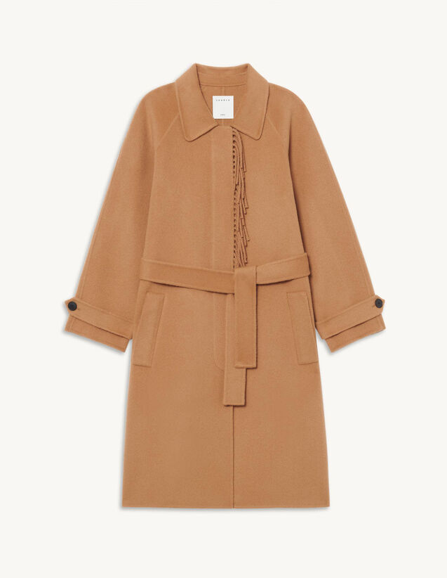 Long Wool Coat : Coats color Camel