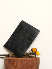 Embossed Leather Pouch : Leather Goods color Black