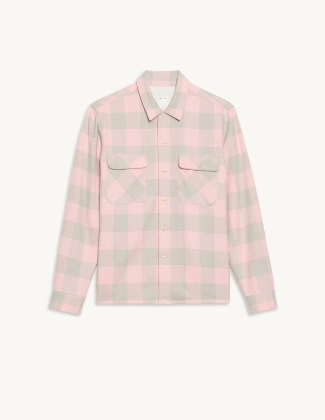 Checked Shirt : Shirts color Black/Ecru