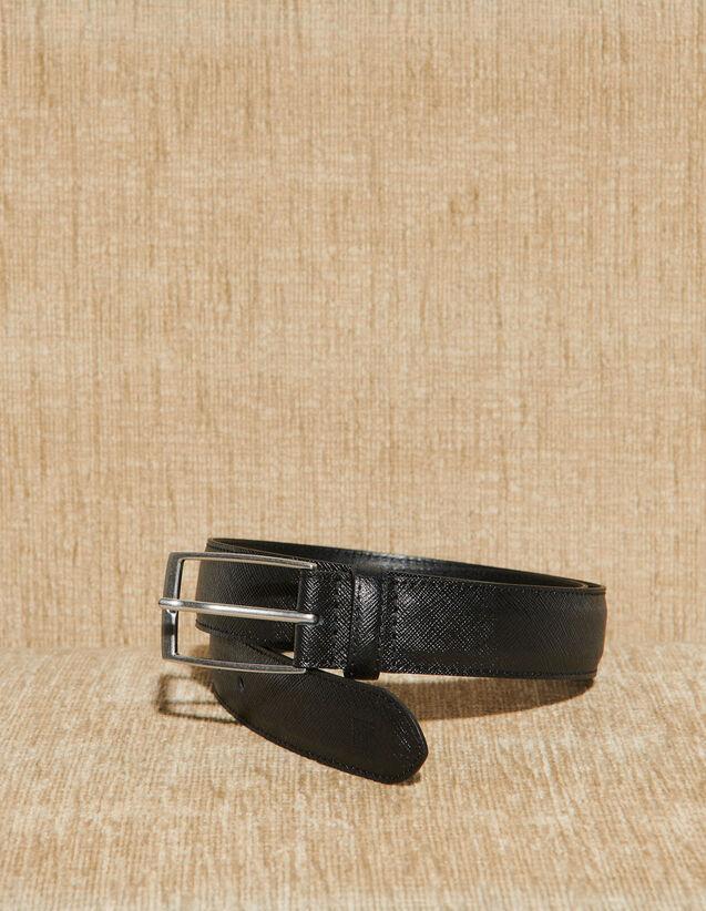 Saffiano Leather Belt : Accessories color Black