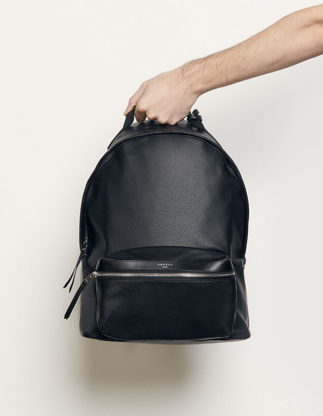 Coated Fabric Backpack : Leather Goods color Black