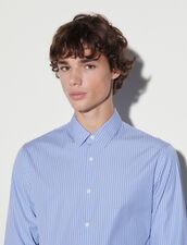 Striped Shirt : Shirts color Blue