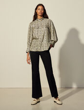 Printed Silk Shirt : Shirts color Ivory