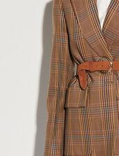 Leather Belt : Belts color 浅栗色/HAVANA