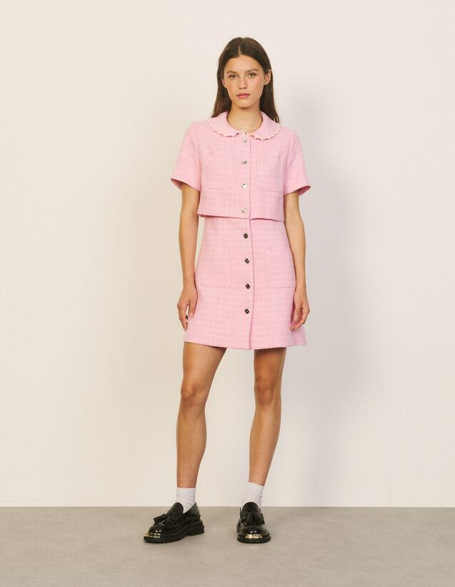 Short Tweed Dress : Dresses color Pink