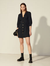 3/4 Sleeve Dress : Dresses color Navy Blue