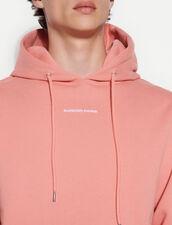 Hoodie Sweatshirt With Logo Embroidery : Sweatshirts color Peach pink