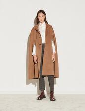 Wool Cape Coat : Coats color Camel