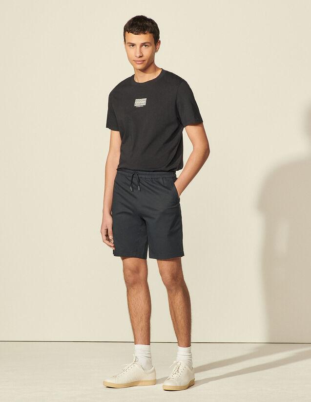 Cotton Blend Shorts : Pants & Shorts color Beige