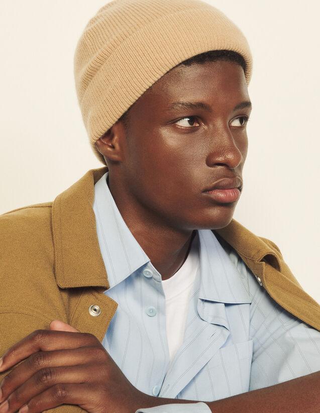 Cashmere Beanie : Caps color Beige