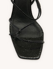 Sandals With Narrow Straps : Shoes color Black