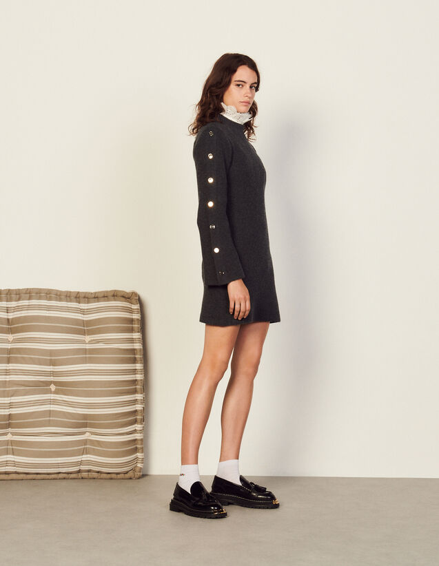 Wool And Cashmere Dress : Dresses color Dark Grey