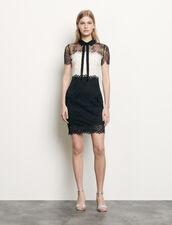 Two-Tone Lace Dress : Dresses color Ecru