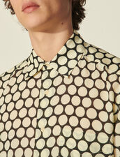 Short-Sleeved Flowing Patterned Shirt : Shirts color Small circles off white