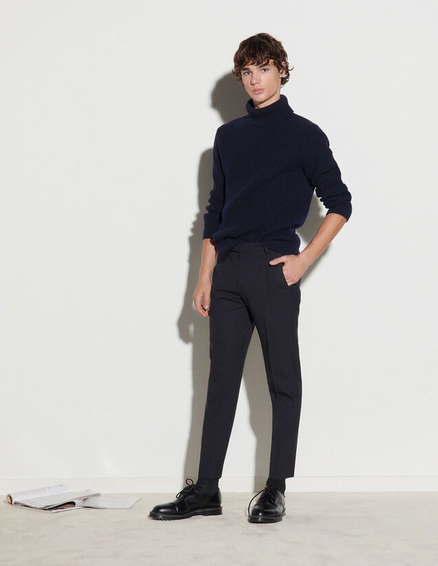 Cool Wool Trousers : Pants & Shorts color Navy Blue