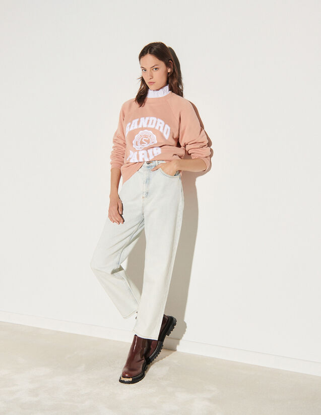 Snow Wash Jeans : Pants color Bleached - Denim
