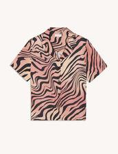 Printed Silk Shirt : Shirts color Light Pink