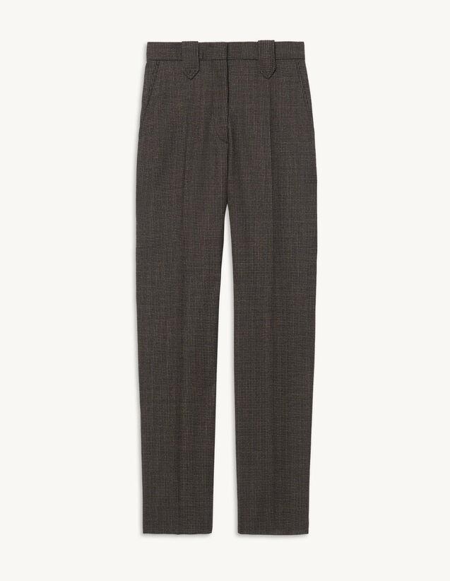 Woollen Trousers : Pants color Beige / Blue