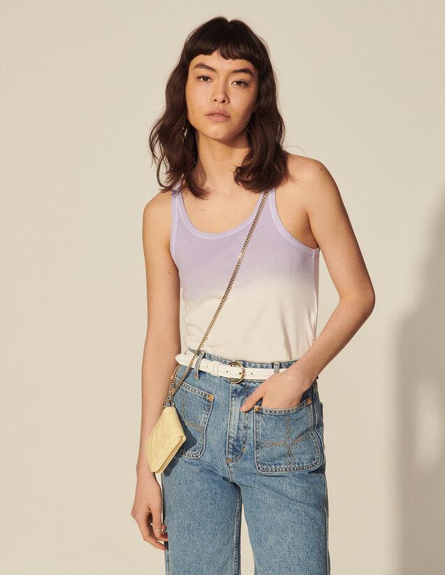 Tie-Dye Vest Top : Tops color Ecru / Pastel lilac