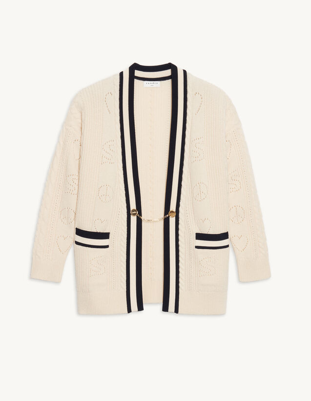Pointelle Knit Coatigan : Sweaters & Cardigans color Ecru