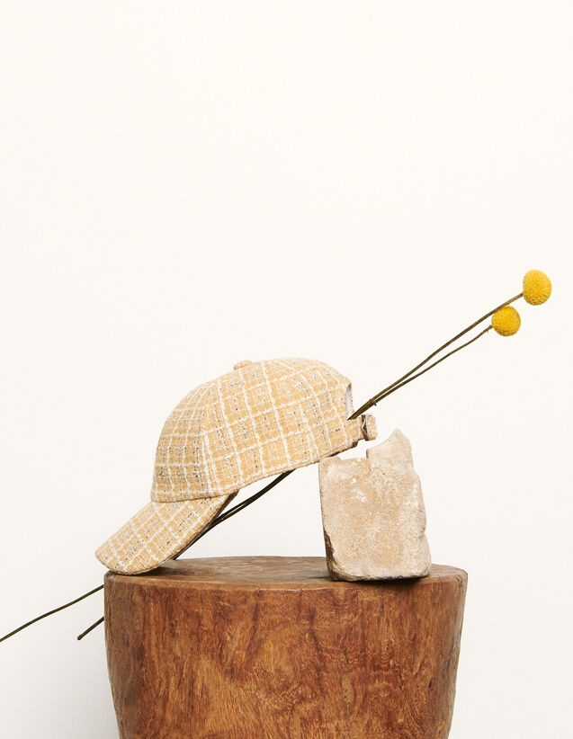 Tweed Cap : Other accessories color Beige