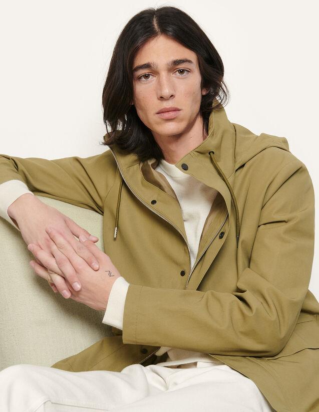 Cotton Parka : Trench coats & Coats color Navy Blue