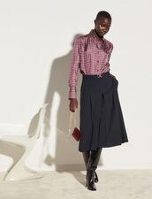 Classic Silk Twill Shirt : Shirts color Bordeaux