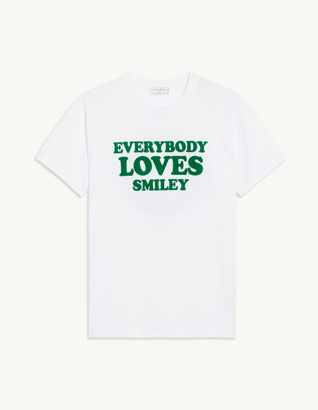 T-Shirt With Printed Lettering : T-shirts color white