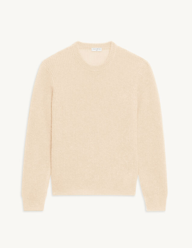 Round Neck Sweater : T-shirts & Polo shirts color Ecru
