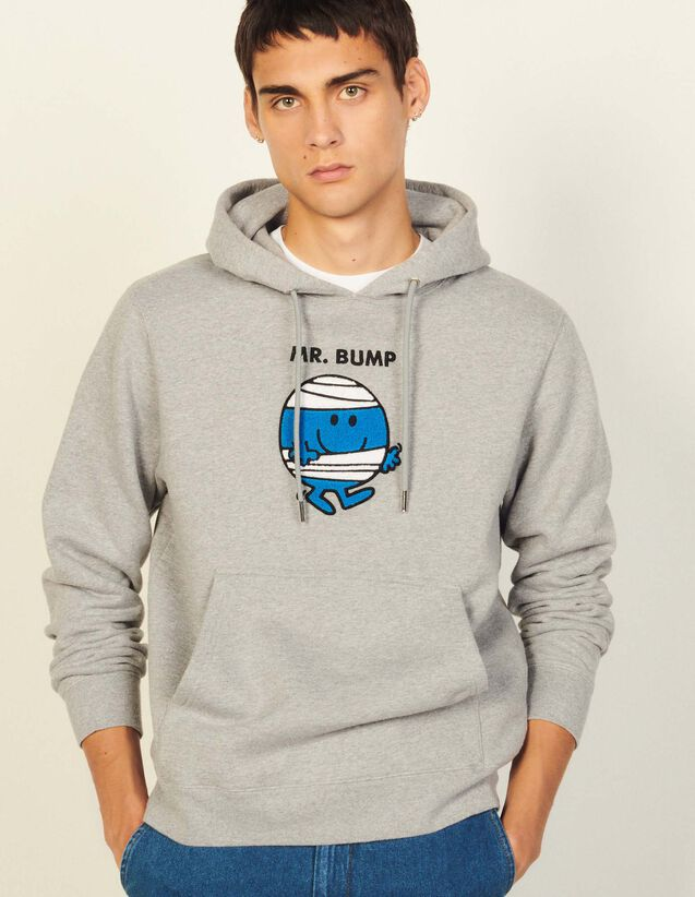 Cotton Sweatshirt With Patch : Sweatshirts color White