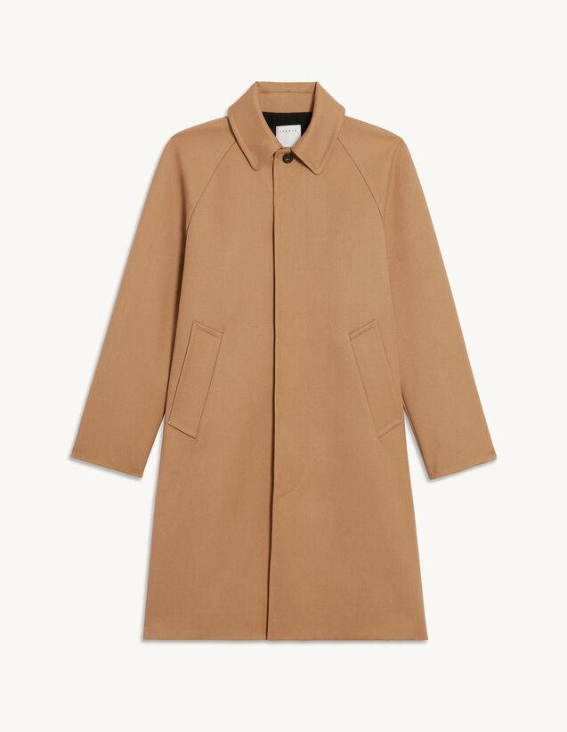 Long Coat With Raglan Sleeves : Trench coats & Coats color Beige