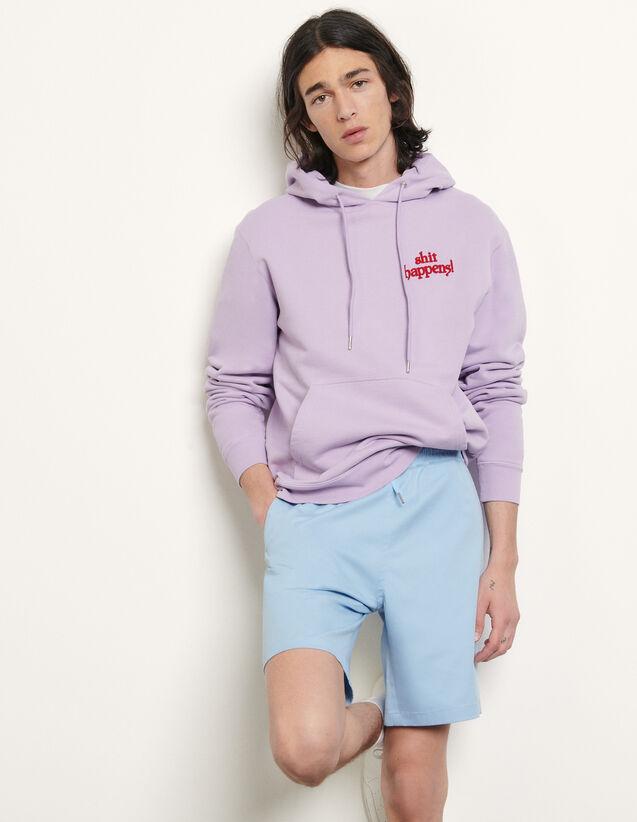 Cotton Blend Shorts : Pants & Shorts color Sky Blue