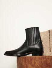 Cowboy Boots : Shoes color Black