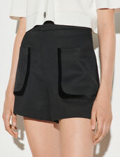 Shorts With Large Patch Pockets : Skirts & Shorts color Black