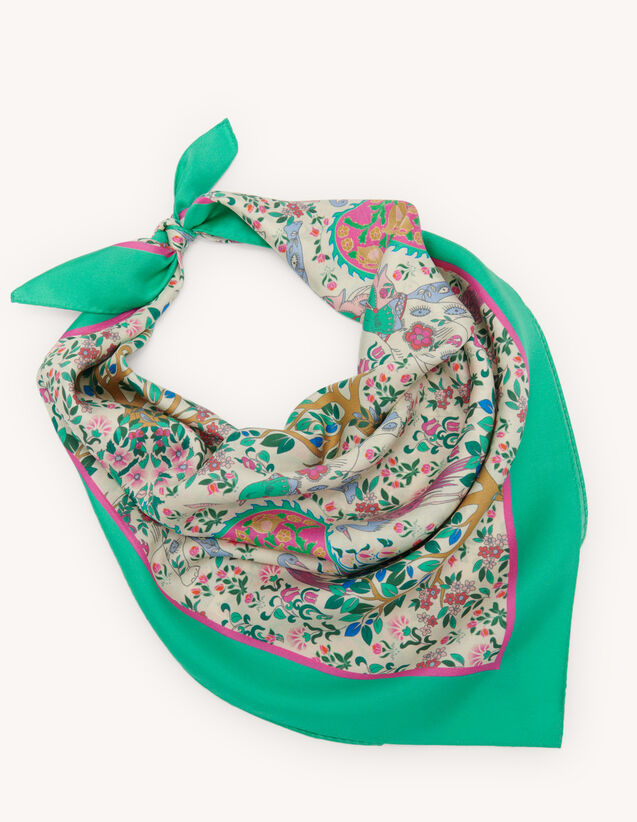Printed Silk Scarf : Other accessories color Multi-Color